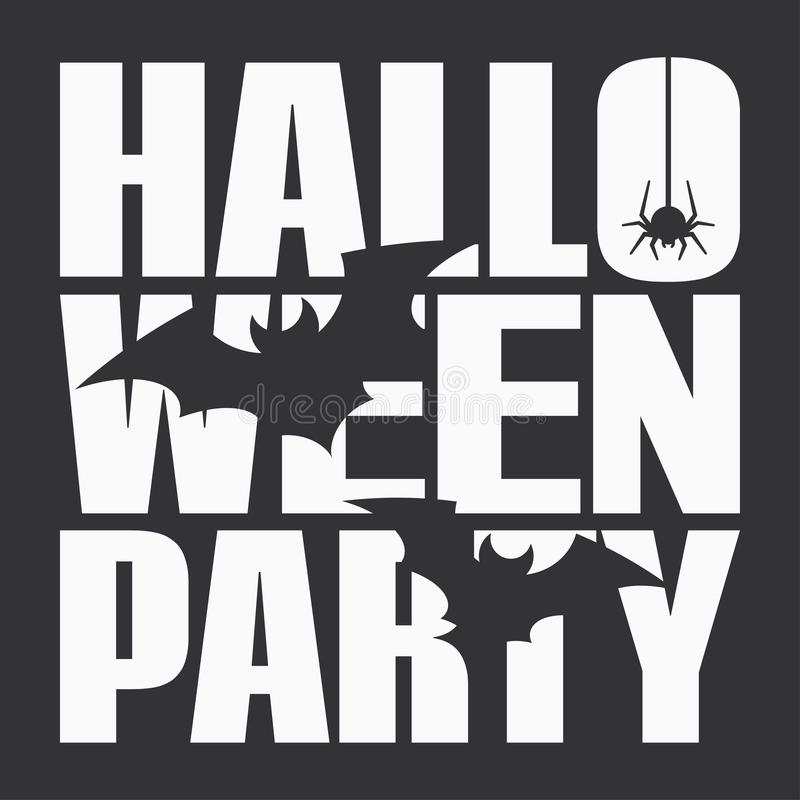 Halloween party night poster on black background vector illustration