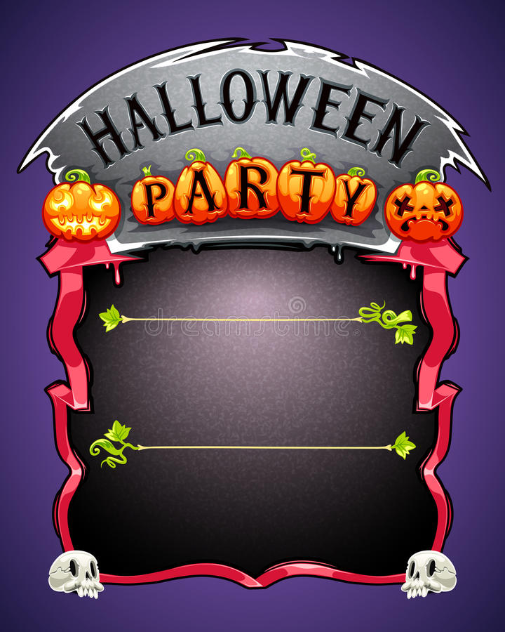Halloween Party Poster. In the EPS file, each element is grouped separately. Clipping paths included in additional jpg format stock illustration