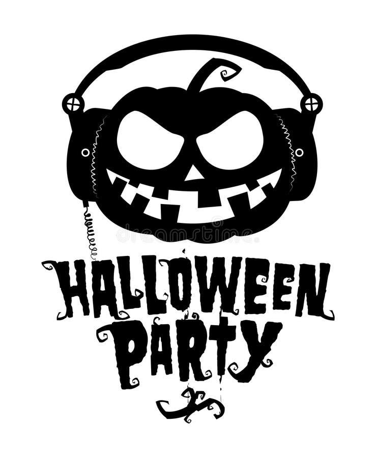 Halloween party pumpkin stock illustration