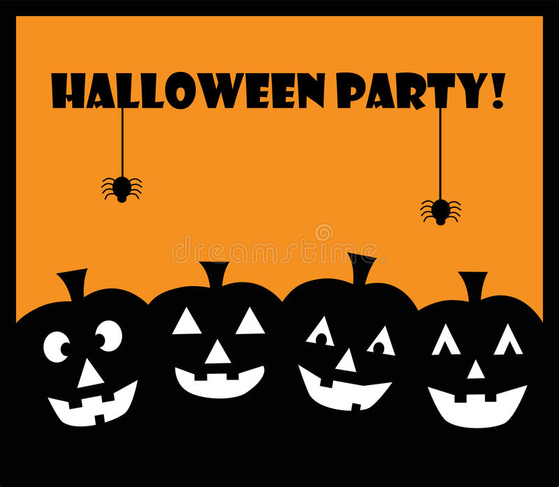 Halloween Party Pumpkins royalty free illustration