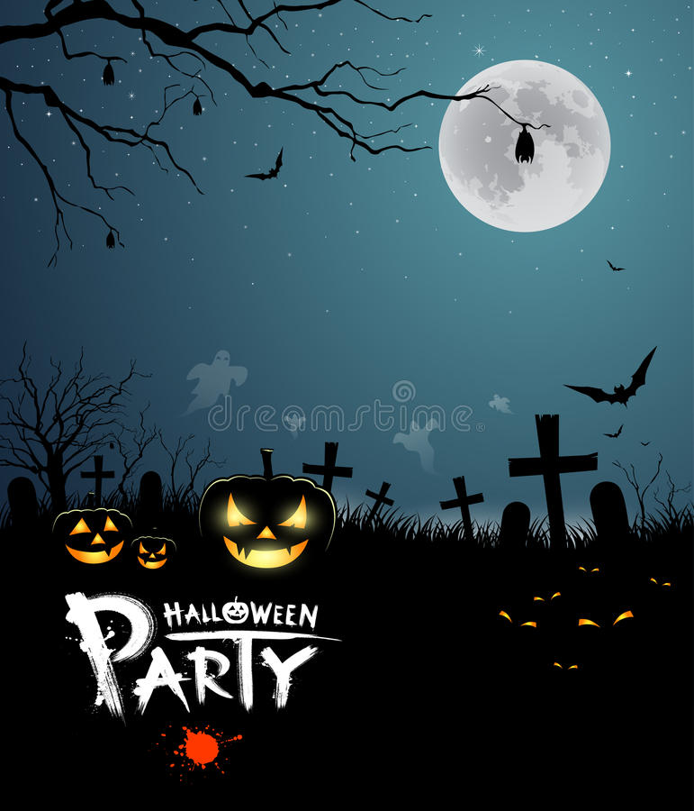 Halloween party scary design royalty free illustration