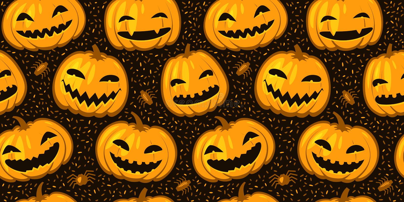 Halloween party seamless background. Pattern pumpkins vector illustration vector illustration