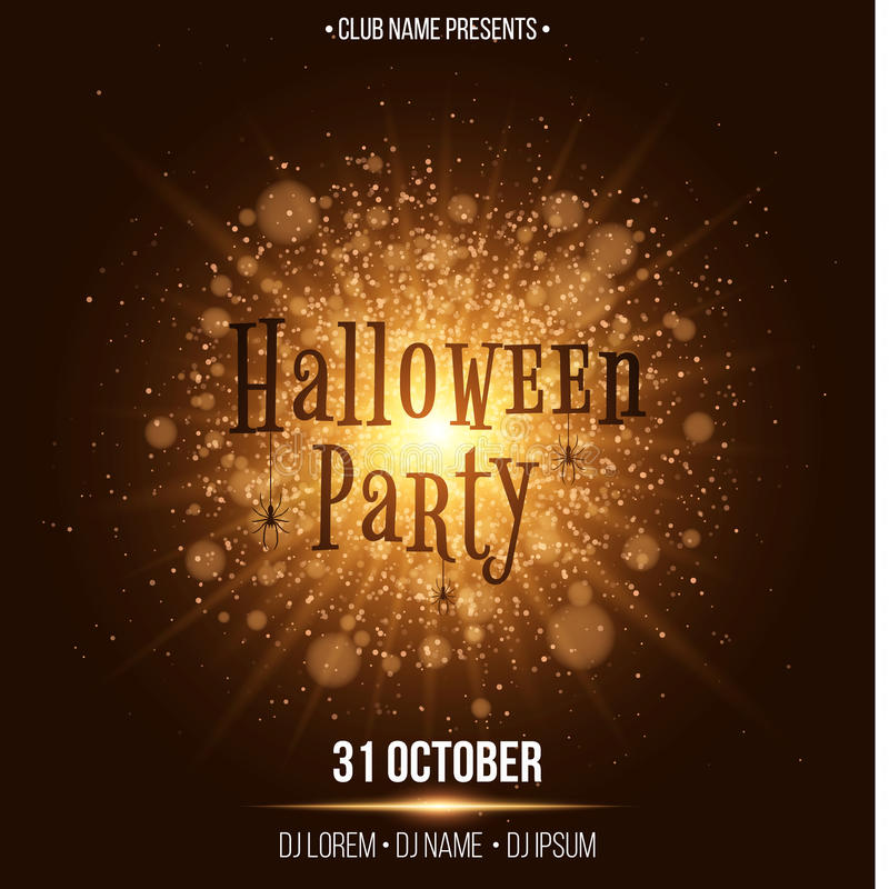 Halloween Party. Text In The Style Of Horor. Abstract Bright Flash ...