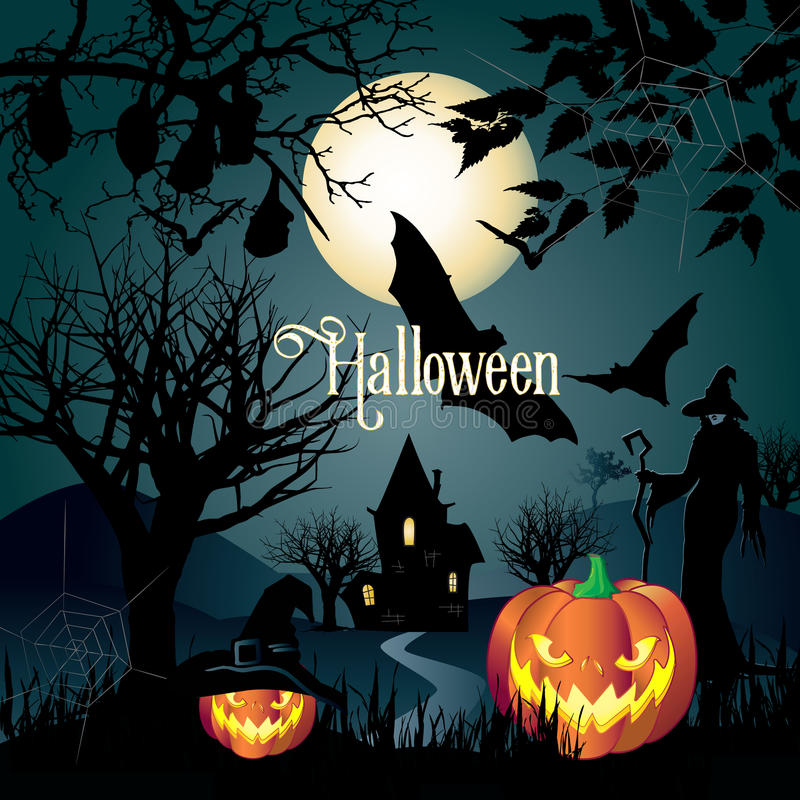 Download Halloween stock illustration. Image of dark, happy, greeting - 79220572
