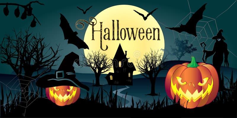 Download Halloween Night Halloween Wallpaper Stock Vector - Illustration of fitness, elements: 79363132