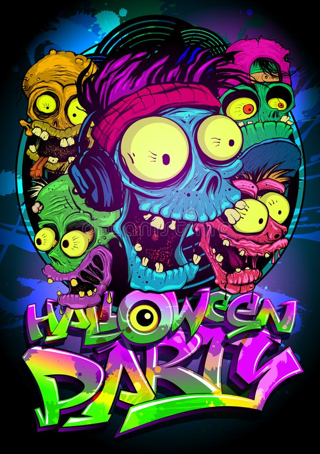 Halloween party vector poster royalty free illustration