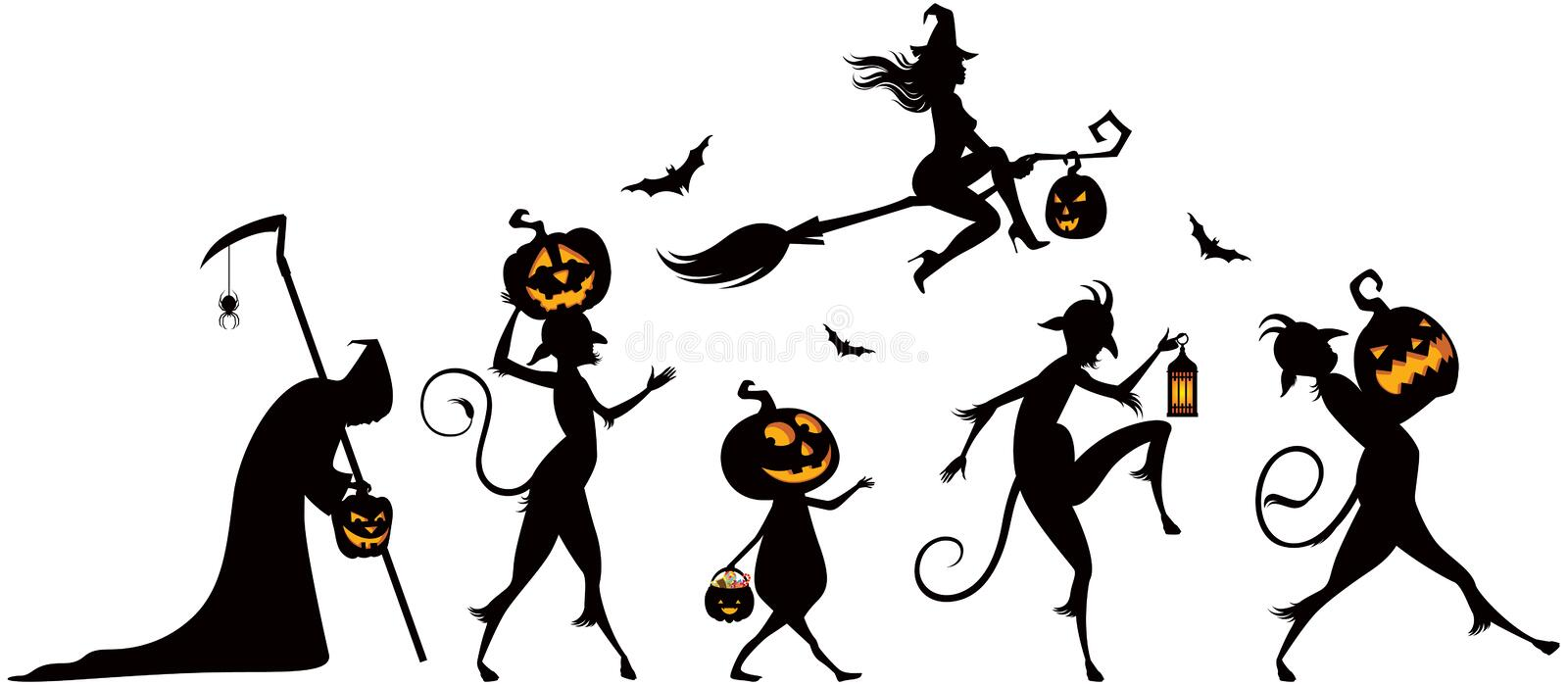 Halloween party vector illustration