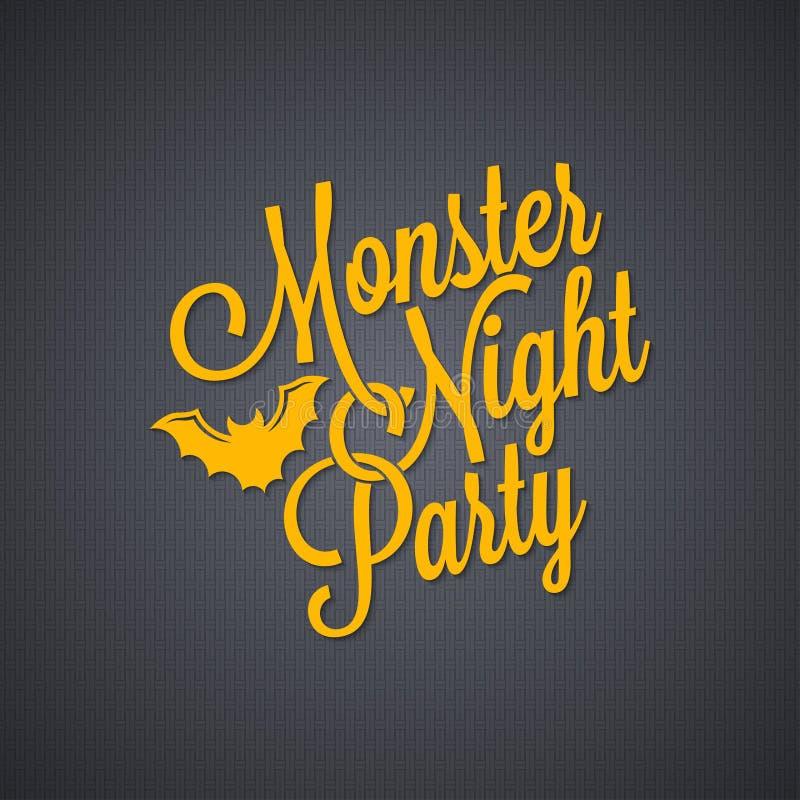 Halloween party vintage lettering background stock illustration