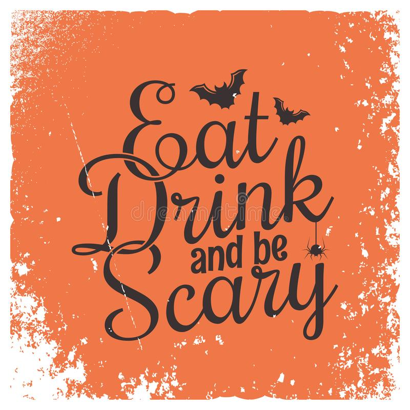 Halloween party vintage lettering background. royalty free stock image