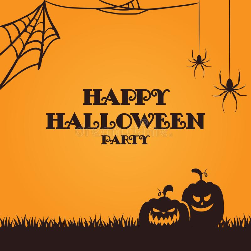 Halloween Party Wallpaper Banner. Halloween Party Wallpaper Eps 10 vector illustration