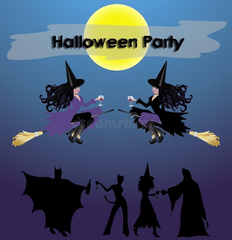 Halloween-Party-Zeichen lizenzfreie abbildung