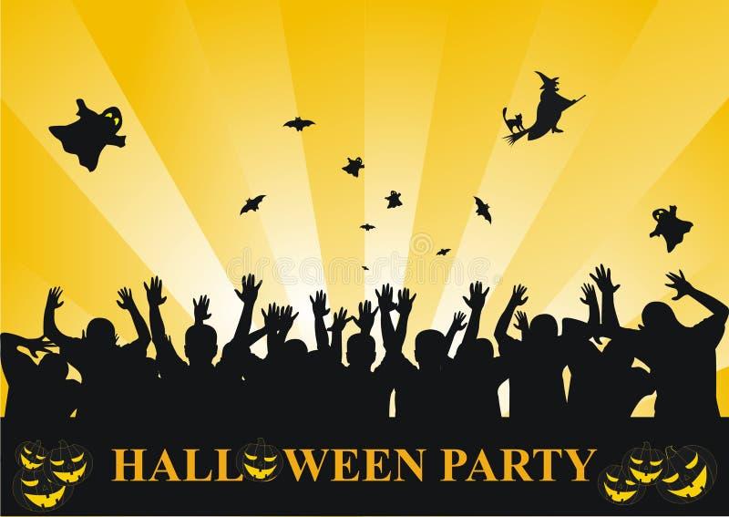 Halloween-Partyhintergrund lizenzfreie abbildung