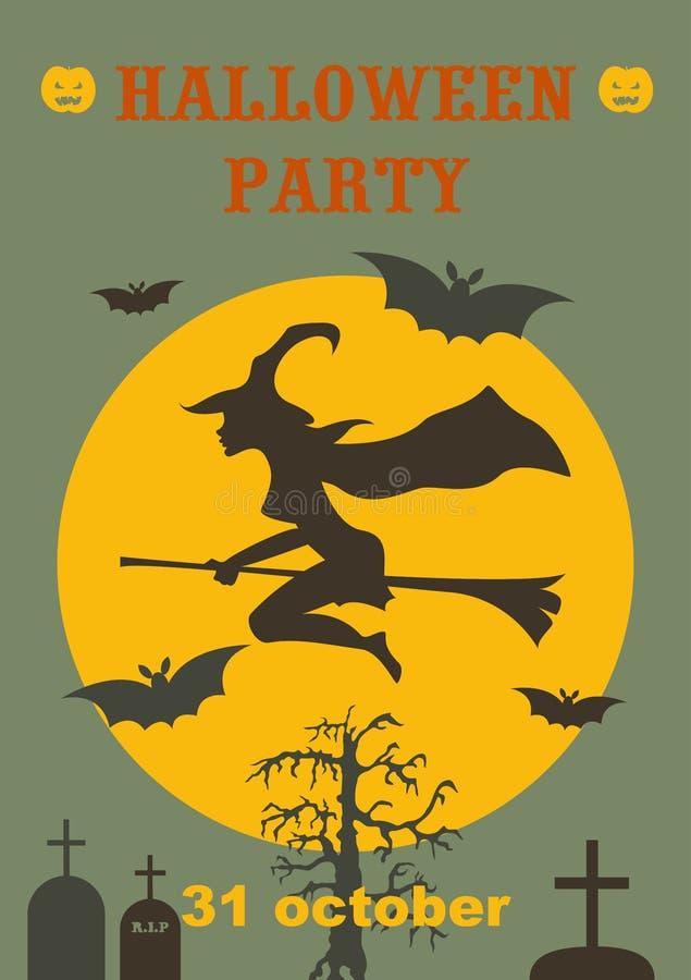 Halloween partyjna straszna ulotka r?wnie? zwr?ci? corel ilustracji wektora ilustracji