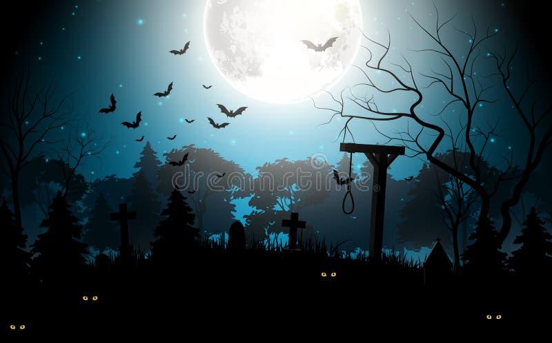 Halloween partyjny straszny tło ilustracji