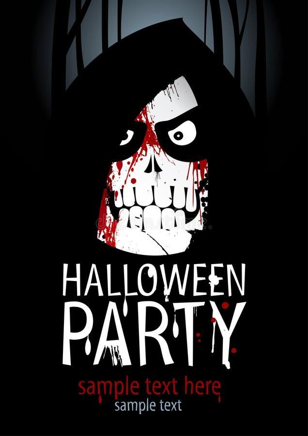 Halloween-Partyschablone. stock abbildung