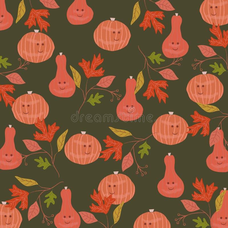 Halloween-patroonachtergrond Vector illustratie royalty-vrije illustratie