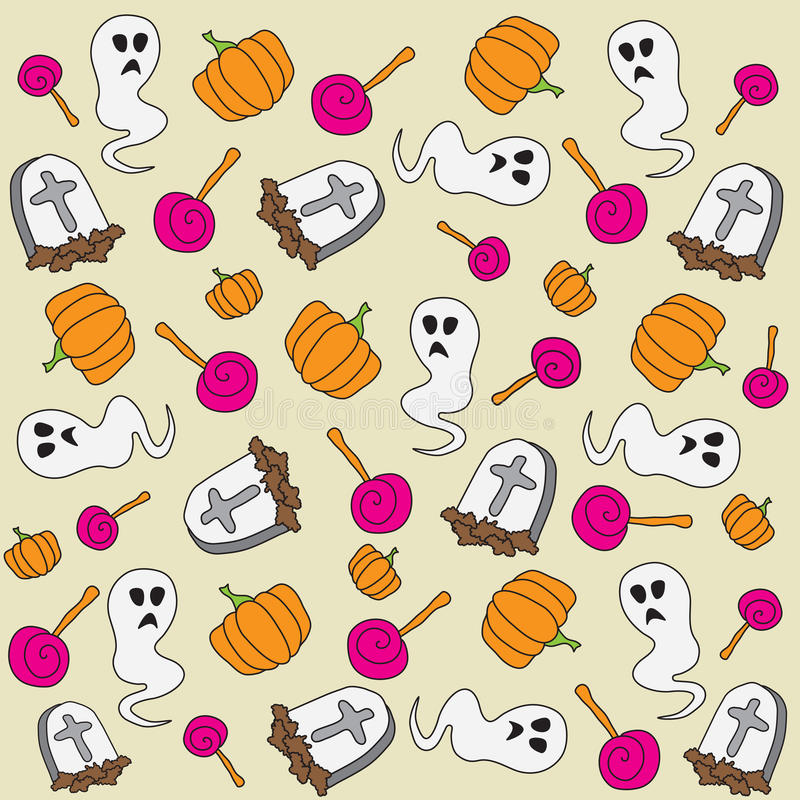 Download Halloween patter stock illustration. Image of dead, ghost - 21656152