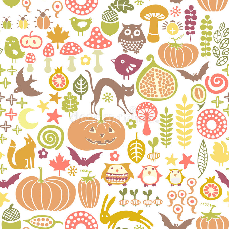 Free Halloween Pattern Stock Image - 21537621