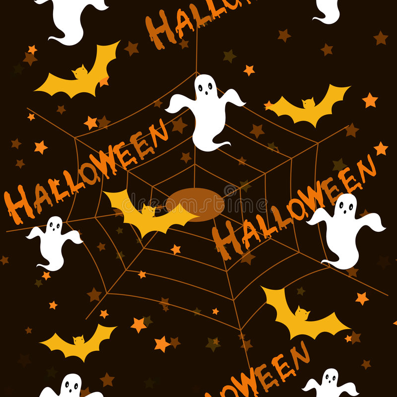Halloween pattern background stock photo