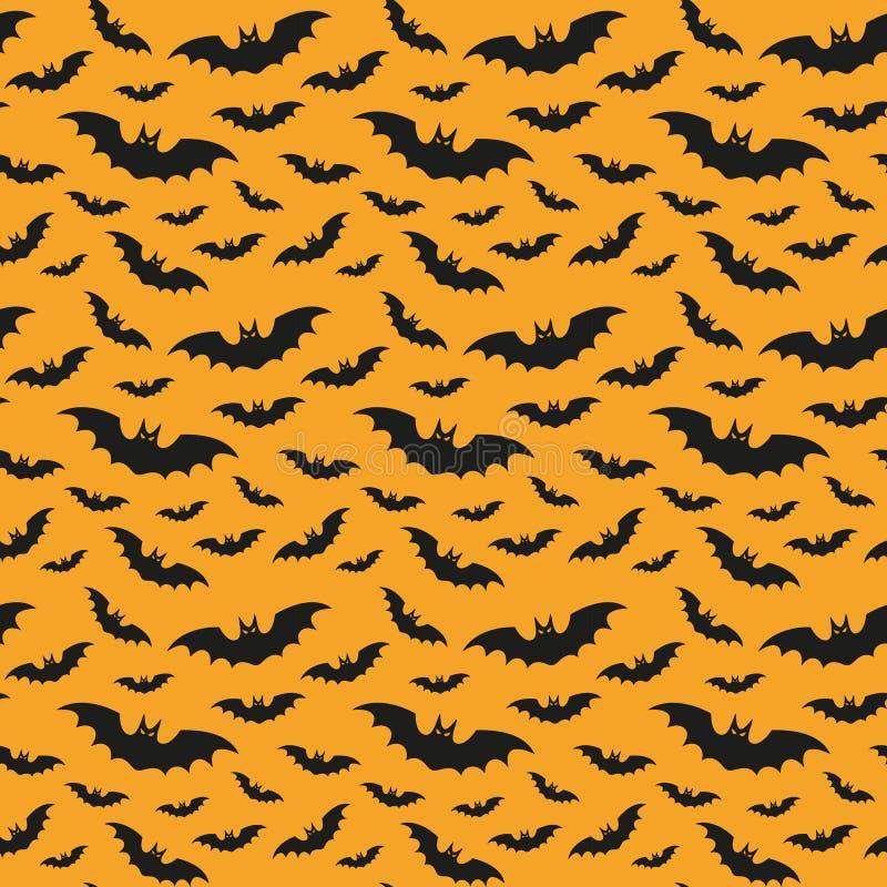 Halloween pattern with bats. stock illustration