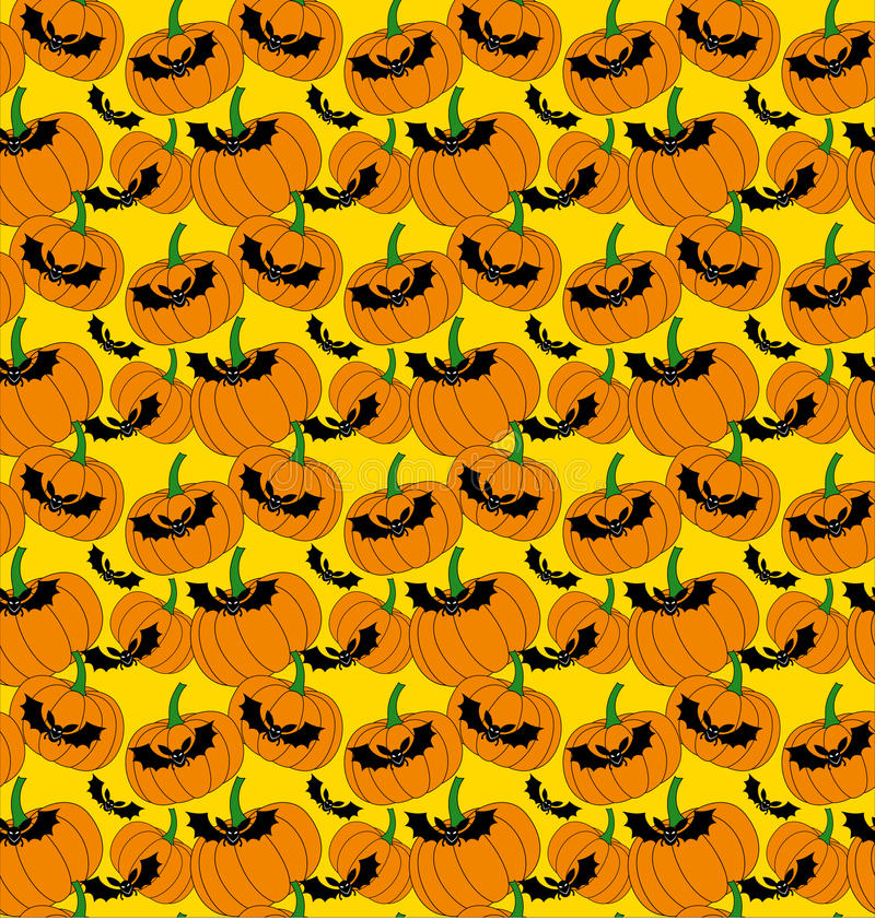 Download Halloween Pattern With Bats And Pumpkins Stock Vector - Image: 16422451