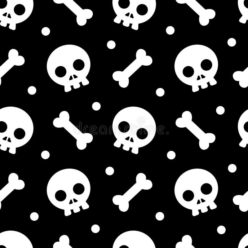 Halloween pattern and wallpaper for gift and present on Halloween day. Skeletons and bones. royalty free stock photography