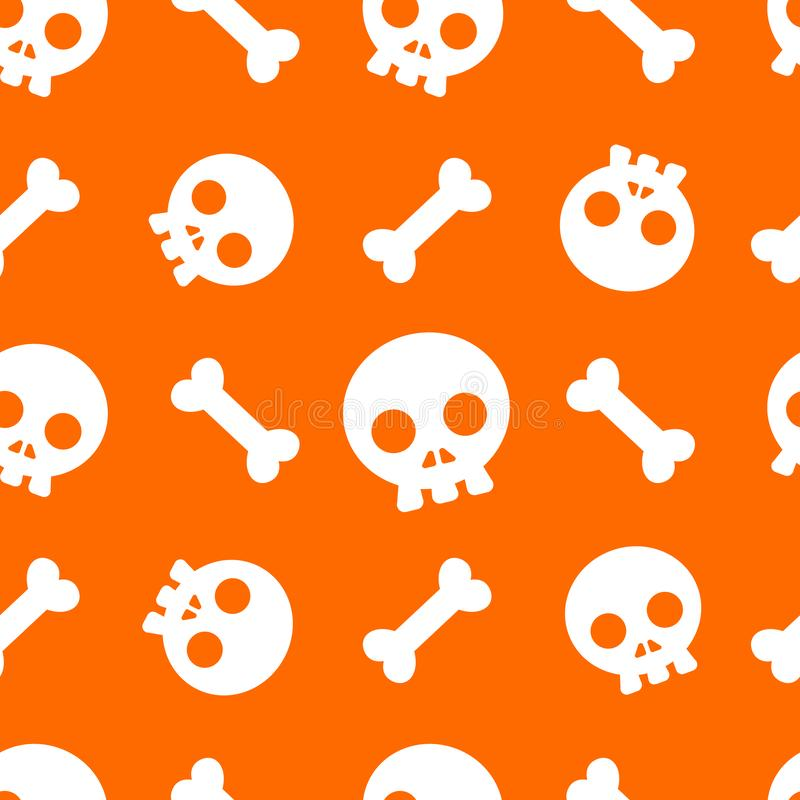 Halloween pattern and wallpaper for gift and present on Halloween day. Skeletons and bones. stock images