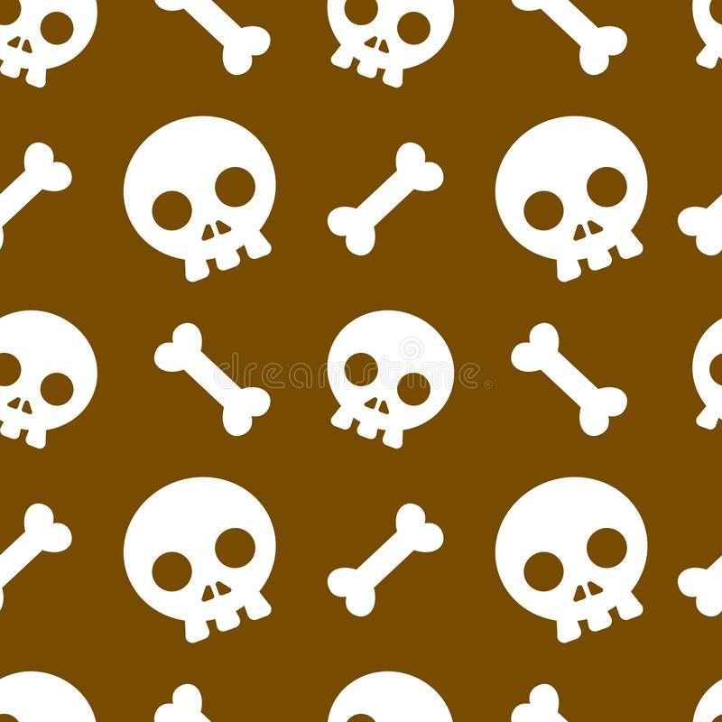 Halloween pattern and wallpaper for gift and present on Halloween day. Skeletons and bones. royalty free stock photo