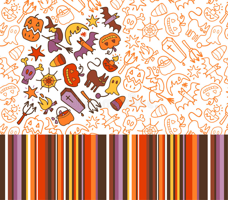 Download Halloween patterns stock vector. Image of candle, pocket - 7966131