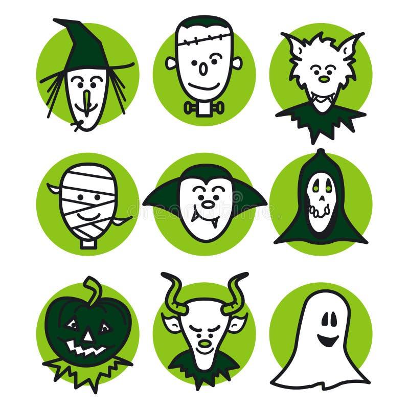 Download Halloween people green stock illustration. Illustration of cloak - 6443546