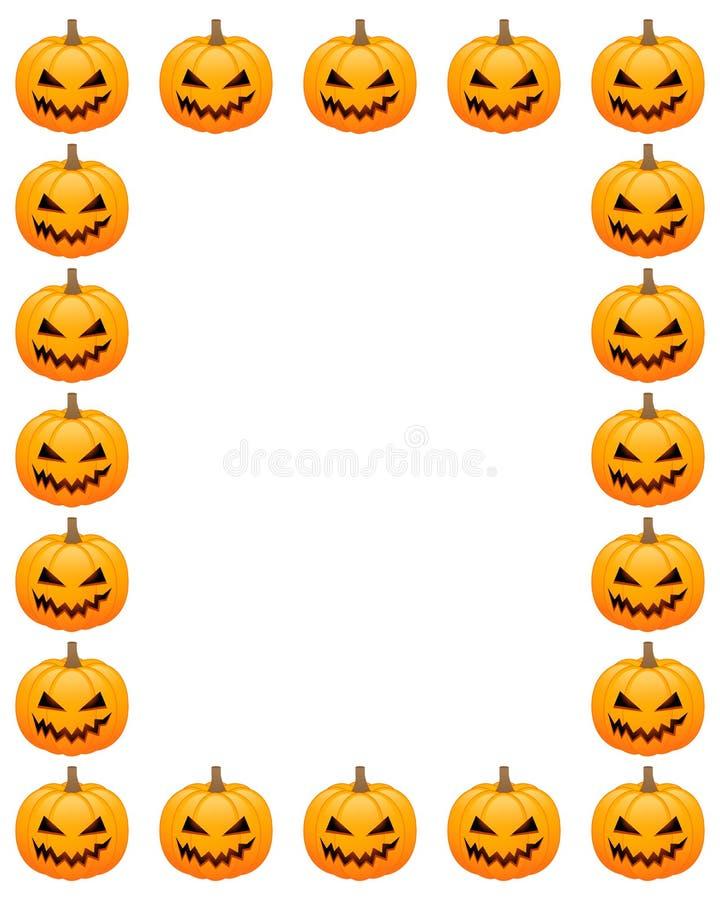 Halloween photo frame royalty free illustration