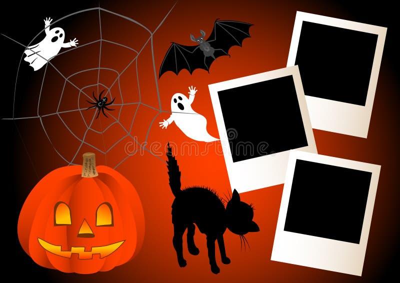 Halloween with photo frames. vector. vector illustration