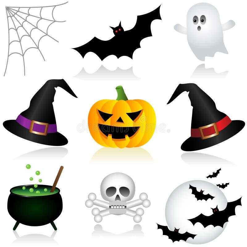 Halloween-Pictogrammen royalty-vrije illustratie