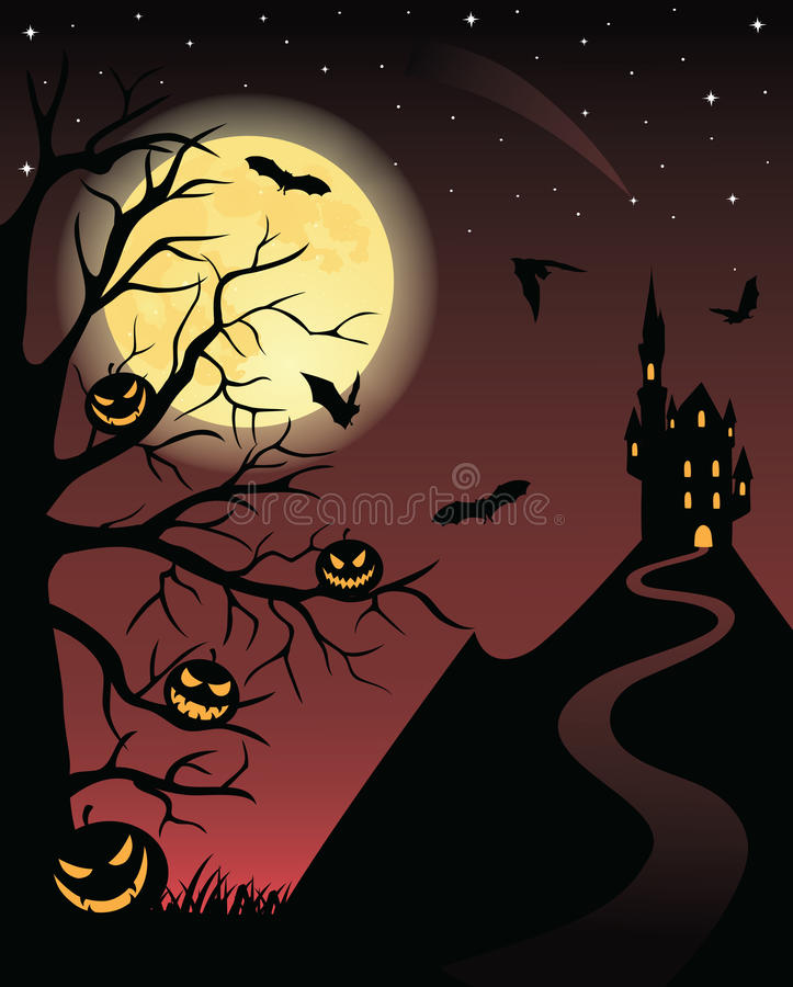 Download Halloween picture. stock illustration. Image of dusk - 10787350