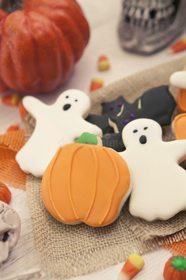 Halloween-Plätzchen getont stockbilder