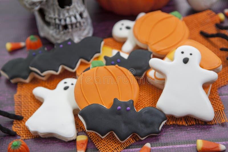 Halloween-Plätzchen-Hintergrund lizenzfreie stockfotos