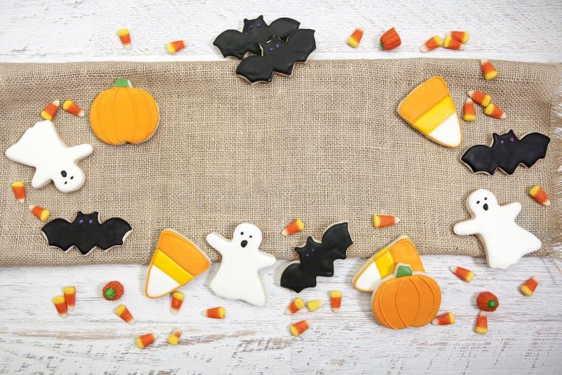 Halloween-Plätzchen-Hintergrund stockfotos