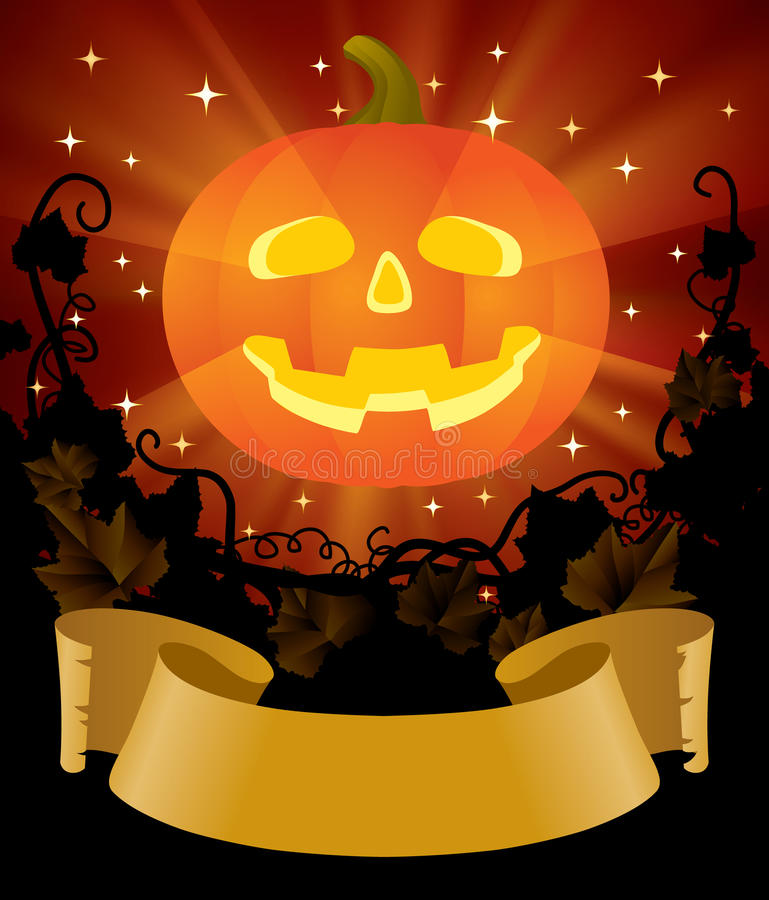 Download Halloween placard stock vector. Image of banner, illuminated - 10911590