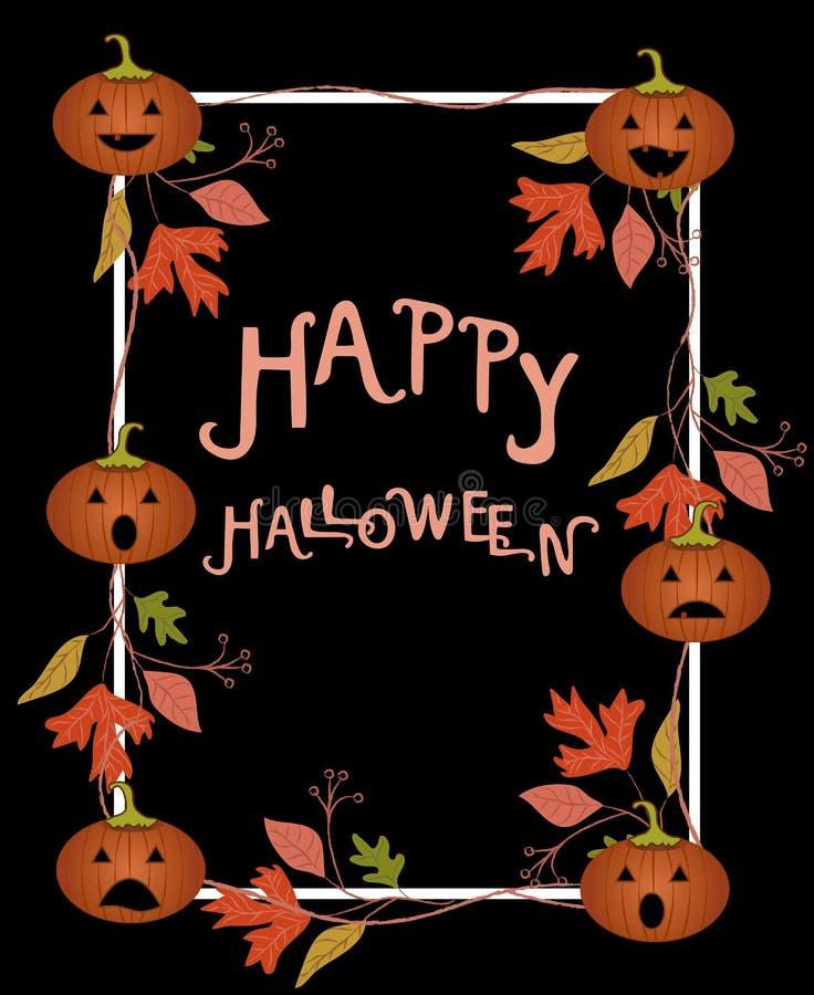 Halloween-Plakatschablone Auch im corel abgehobenen Betrag lizenzfreie stockbilder