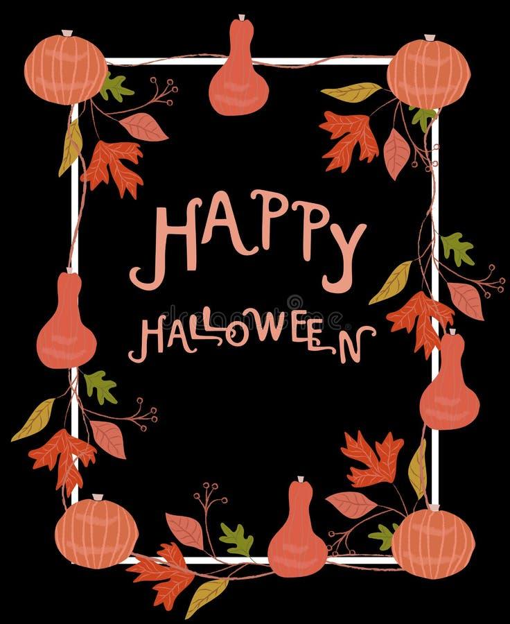 Halloween-Plakatschablone Auch im corel abgehobenen Betrag lizenzfreies stockfoto
