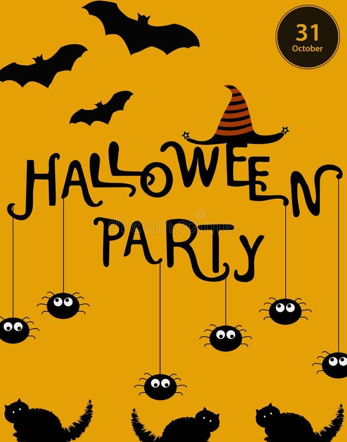 Halloween-Plakatschablone Auch im corel abgehobenen Betrag lizenzfreie stockfotografie