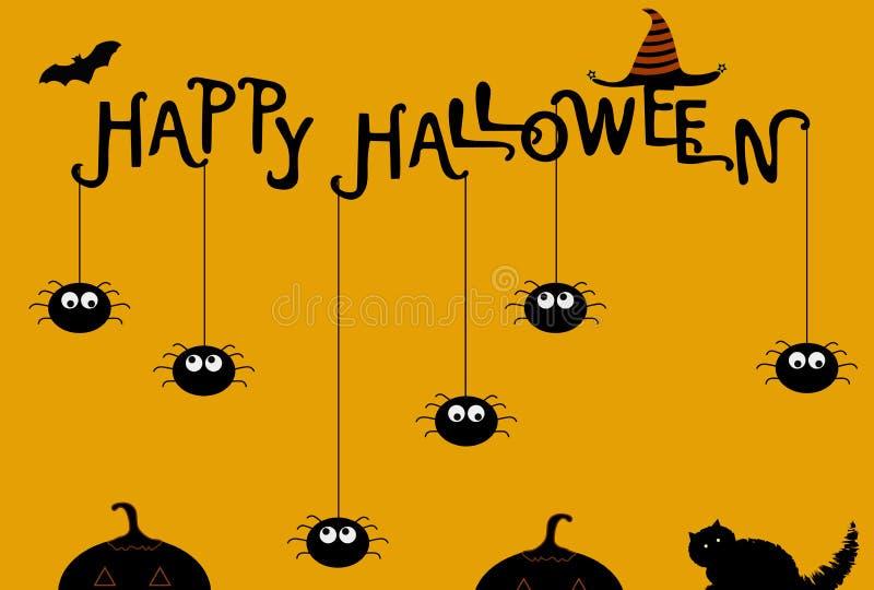 Halloween-Plakatschablone Auch im corel abgehobenen Betrag lizenzfreie stockfotos