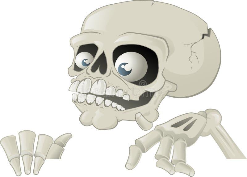 halloween plakatskelett stock illustrationer