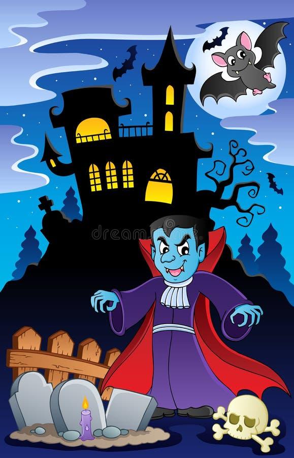 halloween platstema stock illustrationer