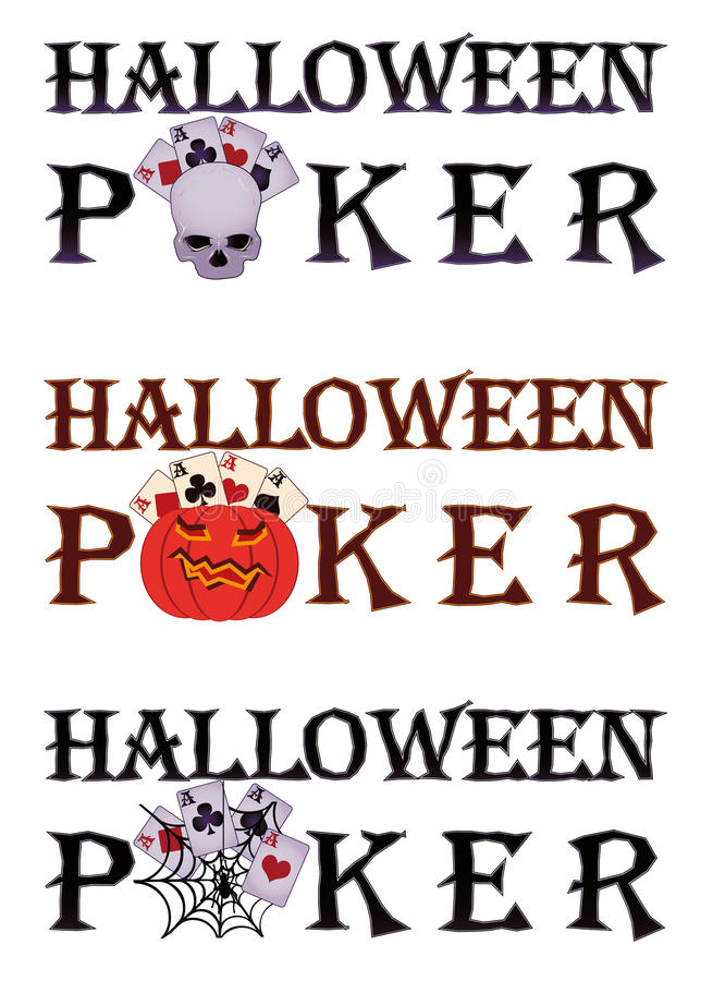 Halloween poker royaltyfri illustrationer