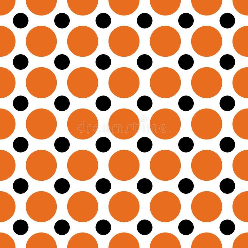 Halloween Polka Dots stock illustration