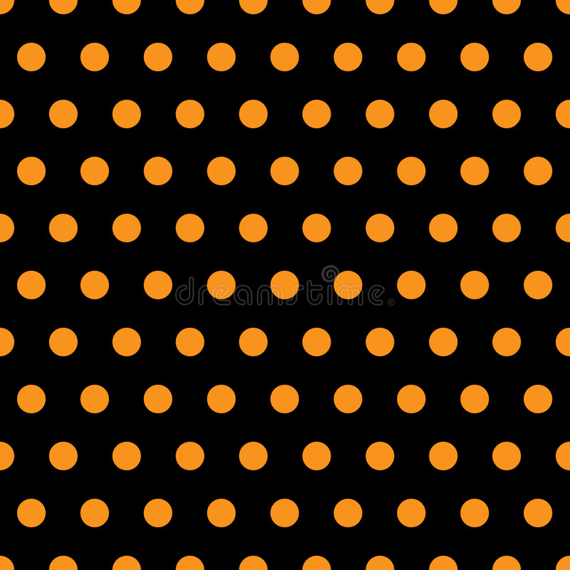 Download Halloween Polka Dots stock illustration. Image of dotted - 6625505