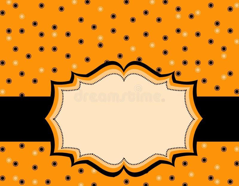 Halloween-Polkahintergrund stock abbildung