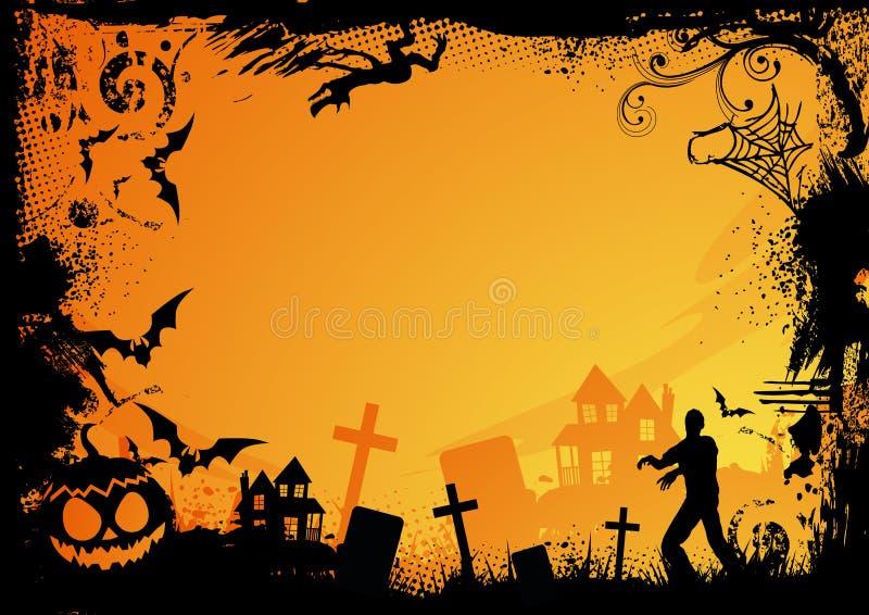 halloween pomarańcze temat ilustracja wektor