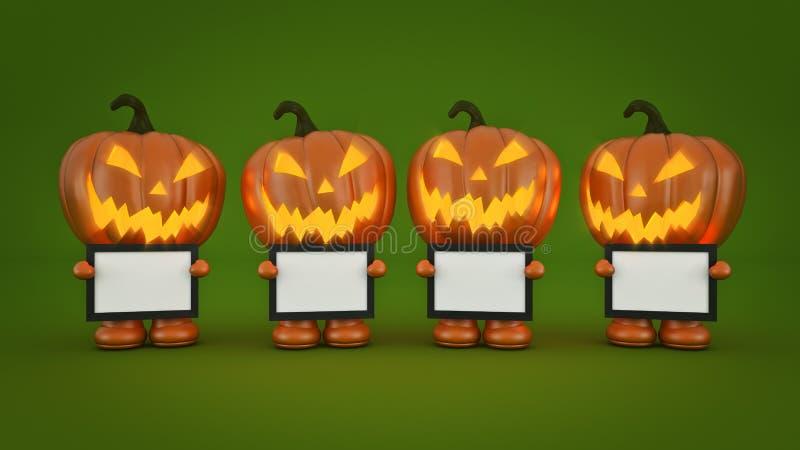 Halloween-Pompoen 3d Halloween royalty-vrije illustratie